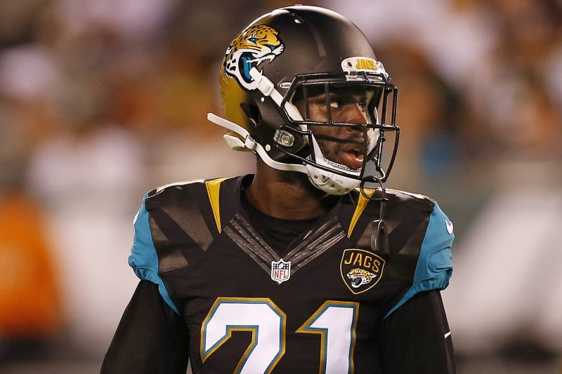 ... NJ - AUGUST 11 Prince Amukamara 21 of the Jacksonville Jaguars Jaguars  CB Prince Amukamara has name misspelled on jersey ... a735a0bd7