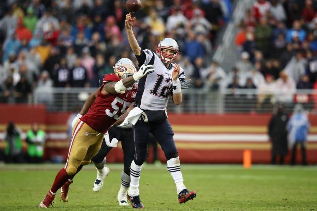 Tom Brady Uses His Feet to Get out Ahead of the 49ers and His MVP Pursuers