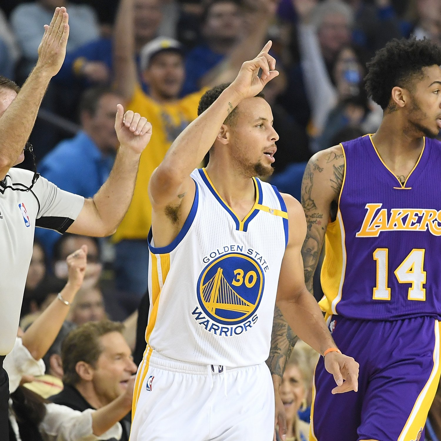 Golden State Warriors Vs. L.A. Lakers: Live Score
