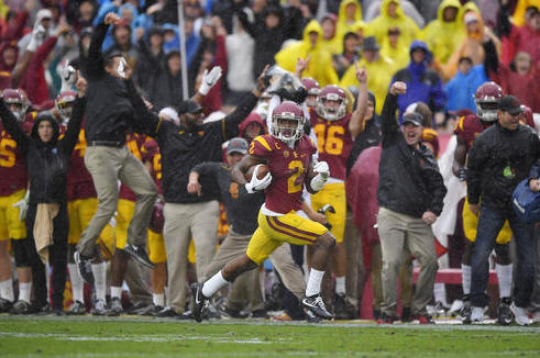 USC's Adoree Jackson owned the Irish with a punt return, screen pass and kickoff return, all of which went for TDs and were longer than 50 yards
