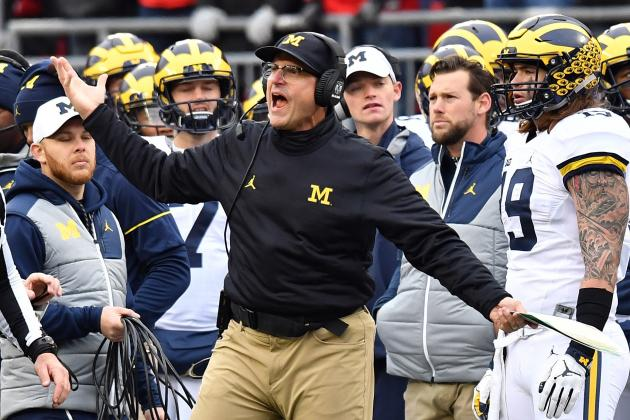 Jim Harbaugh Reprimanded, Michigan Fined for HC's Criticism of Officials