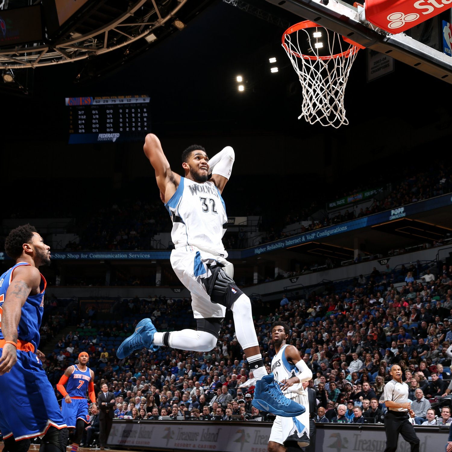 Timberwolves' Karl-Anthony Towns Scores Career-High 47 Points vs. Knicks