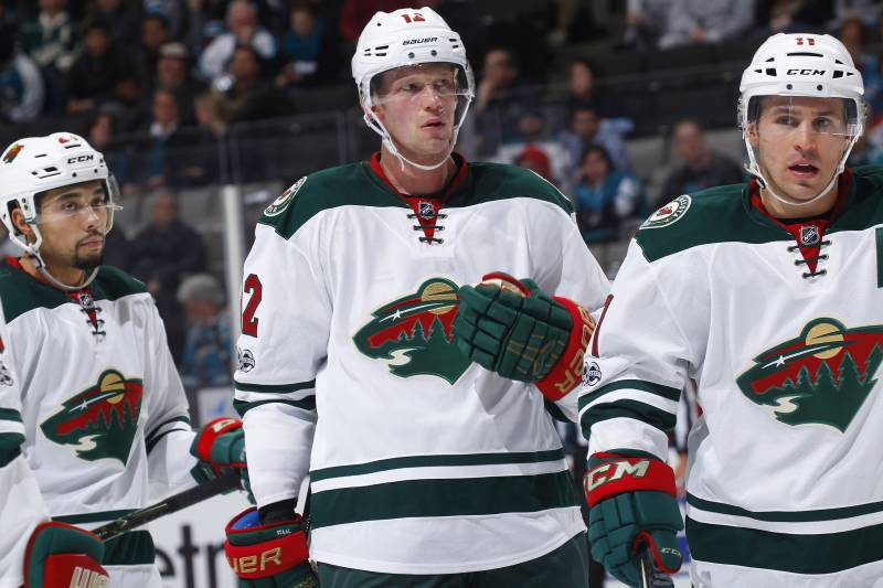 Chicago blackhawks vs minnesota wild betting odds analysis nhl san jose ca january 05 eric staal 12 and zach parise publicscrutiny Choice Image