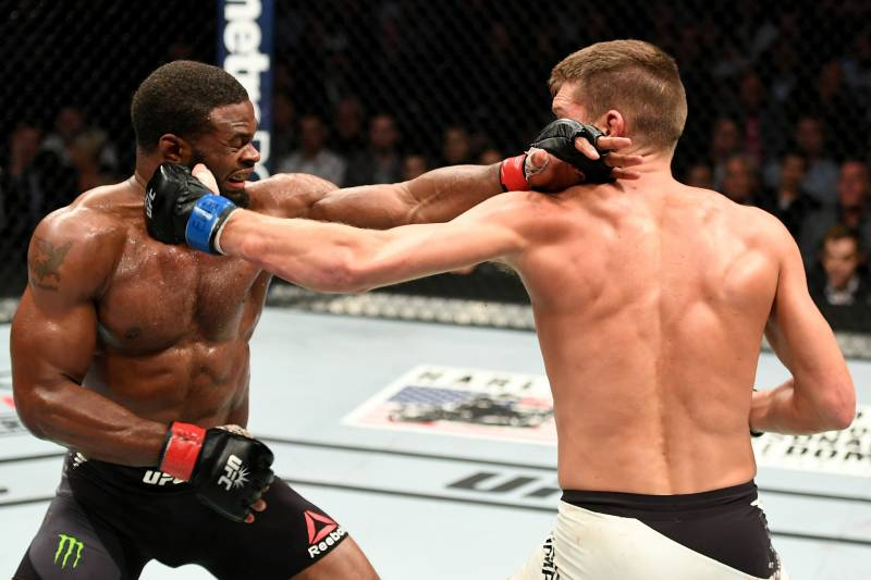 Woodley and Thompson put on an epic fight at UFC 205 last November.