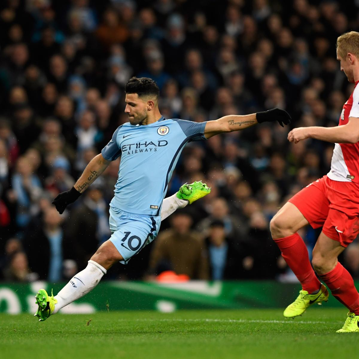 monaco vs manchester city team news live stream tv info for ucl match bleacher report. Black Bedroom Furniture Sets. Home Design Ideas
