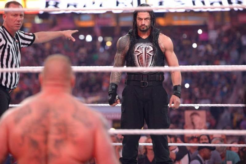 WWE Roman Reigns Brock Lesnar WrestleMania 31