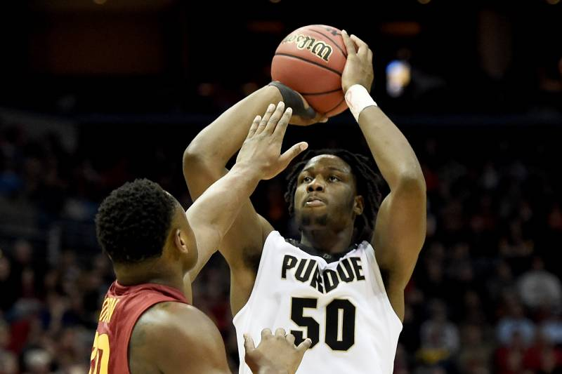 Purdue vs iowa state score and twitter reaction from march madness milwaukee wi march 18 caleb swanigan 50 of the purdue boilermakers attempts publicscrutiny Images