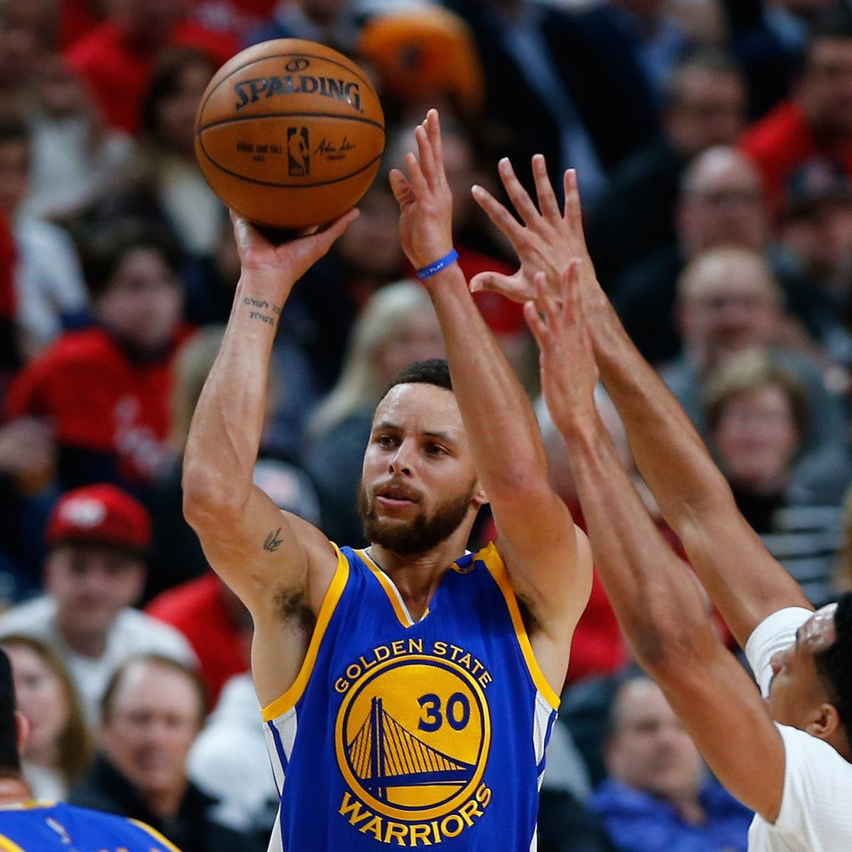 Stephen Curry, Warriors Demolish Blazers After Record 1st