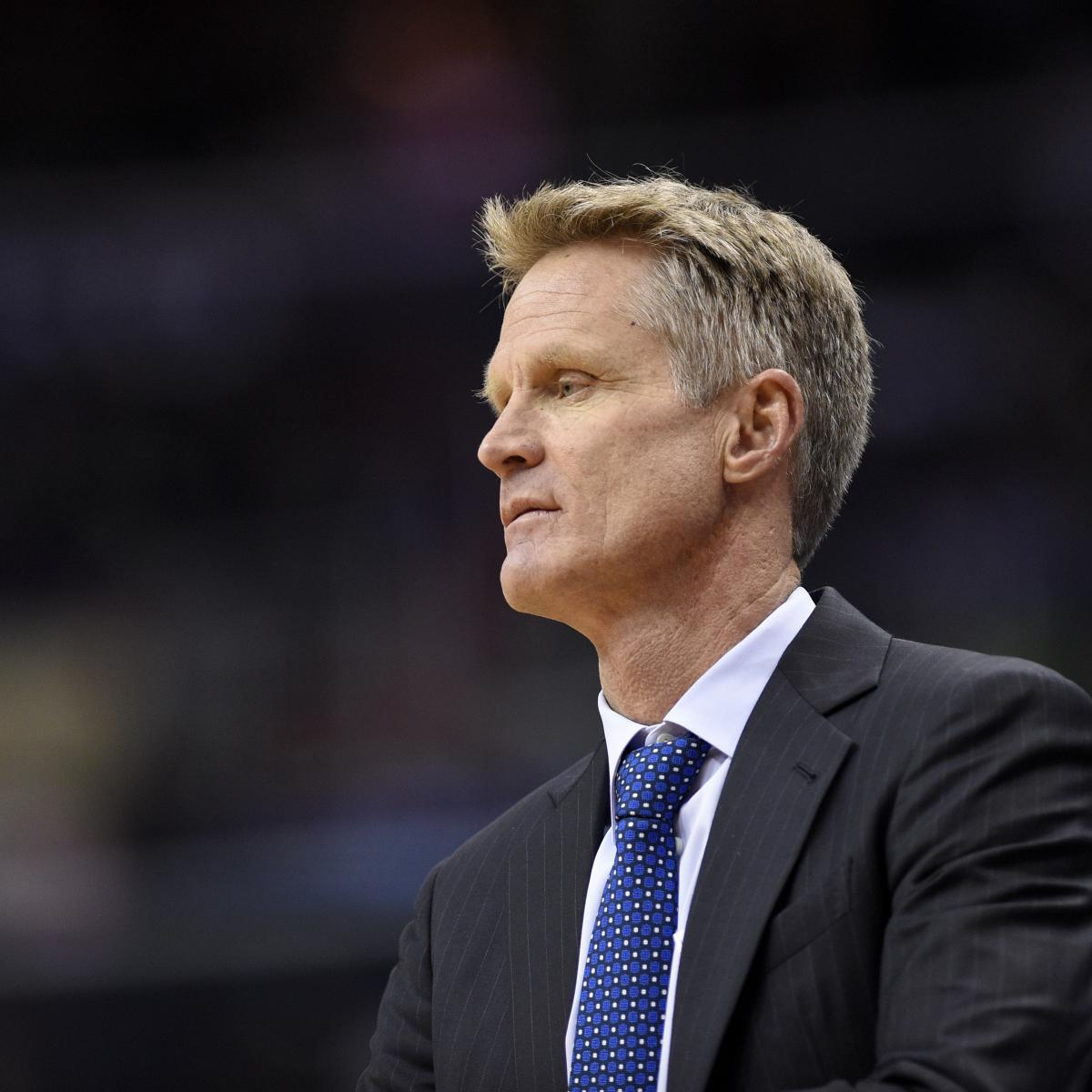Steve Kerr Reportedly Could Miss Rest Of Warriors Vs. Jazz