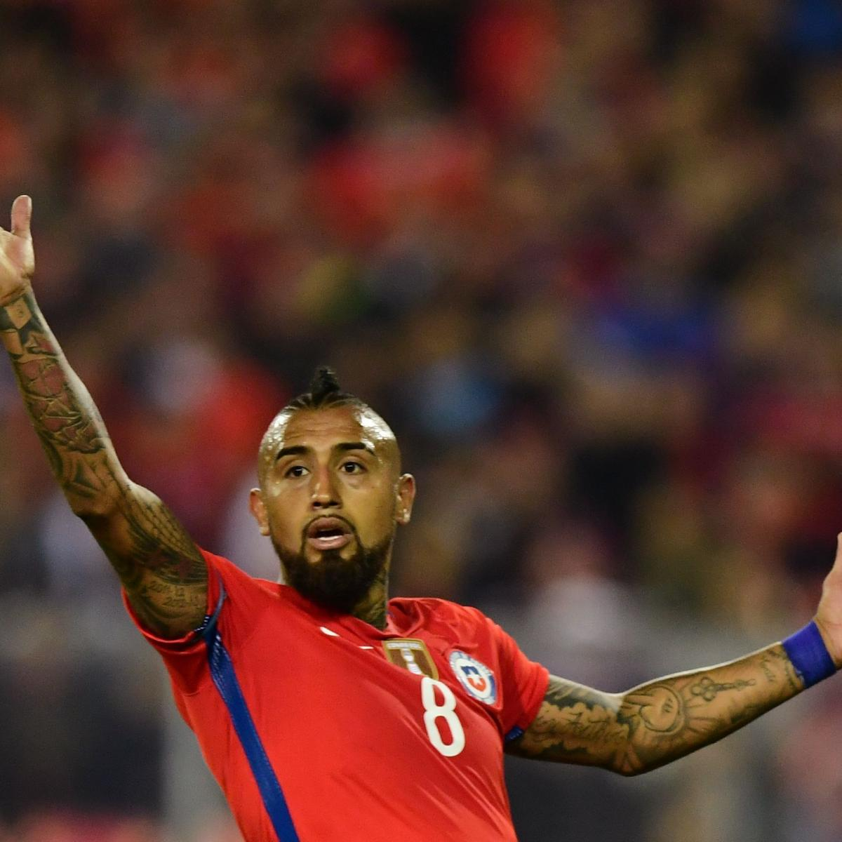 Arturo Vidal Won't Retire from International Football After Chile's Elimination
