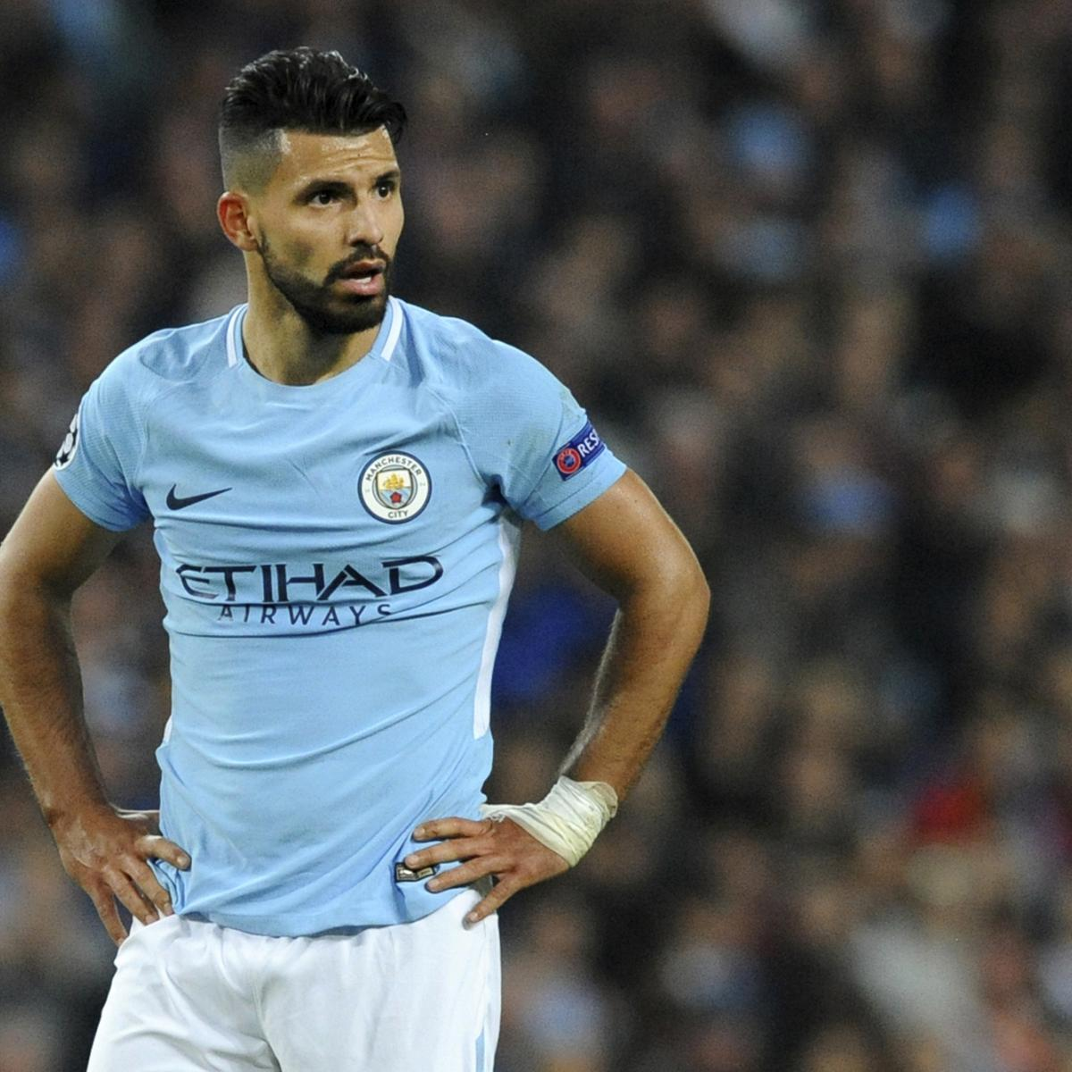 Sergio Aguero Unsure If He'll Play in Manchester City vs. Stoke After Rib Injury