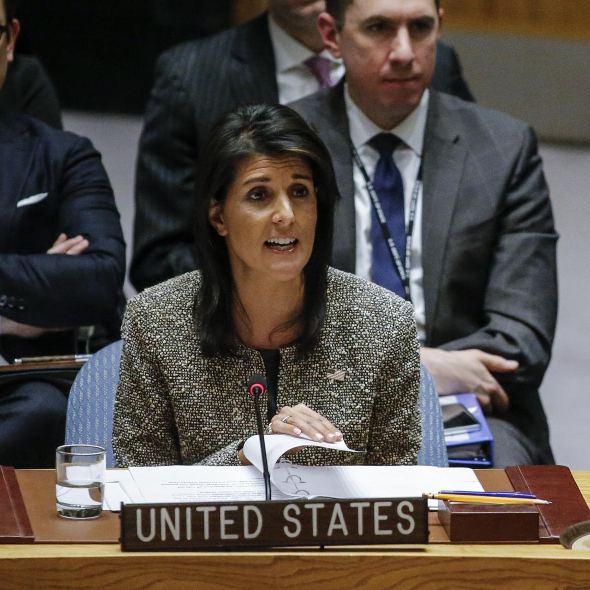 US Ambassador Nikki Haley: Participation in Winter Olympics Is 'Open Question'