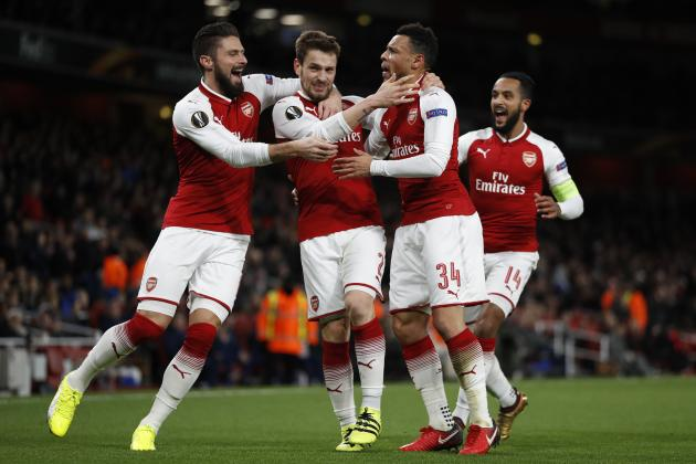 Arsenal Rout BATE Borisov 6-0 in Final Europa League Group-Stage Match