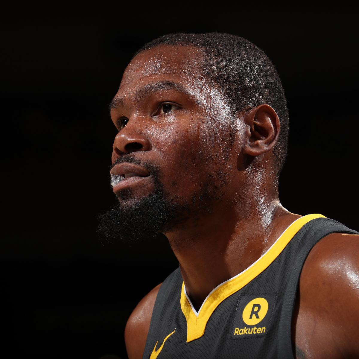Kevin Durant Reportedly Out vs. Kings with Rib Injury