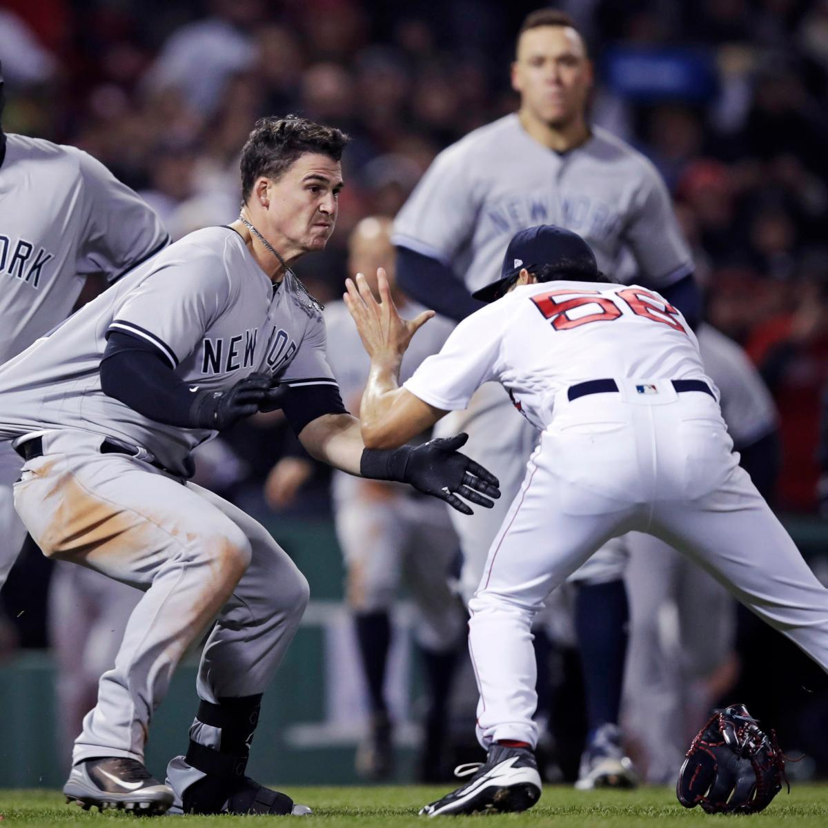 Joe Kelly Suspended 5 Games, Tyler Austin 6 for Red Sox vs. Yankees Brawl
