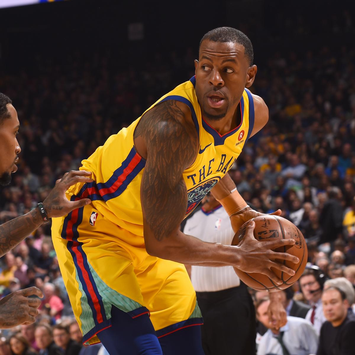 Andre Iguodala to Start at PG in Game 1 of Warriors-Spurs with Stephen Curry Out