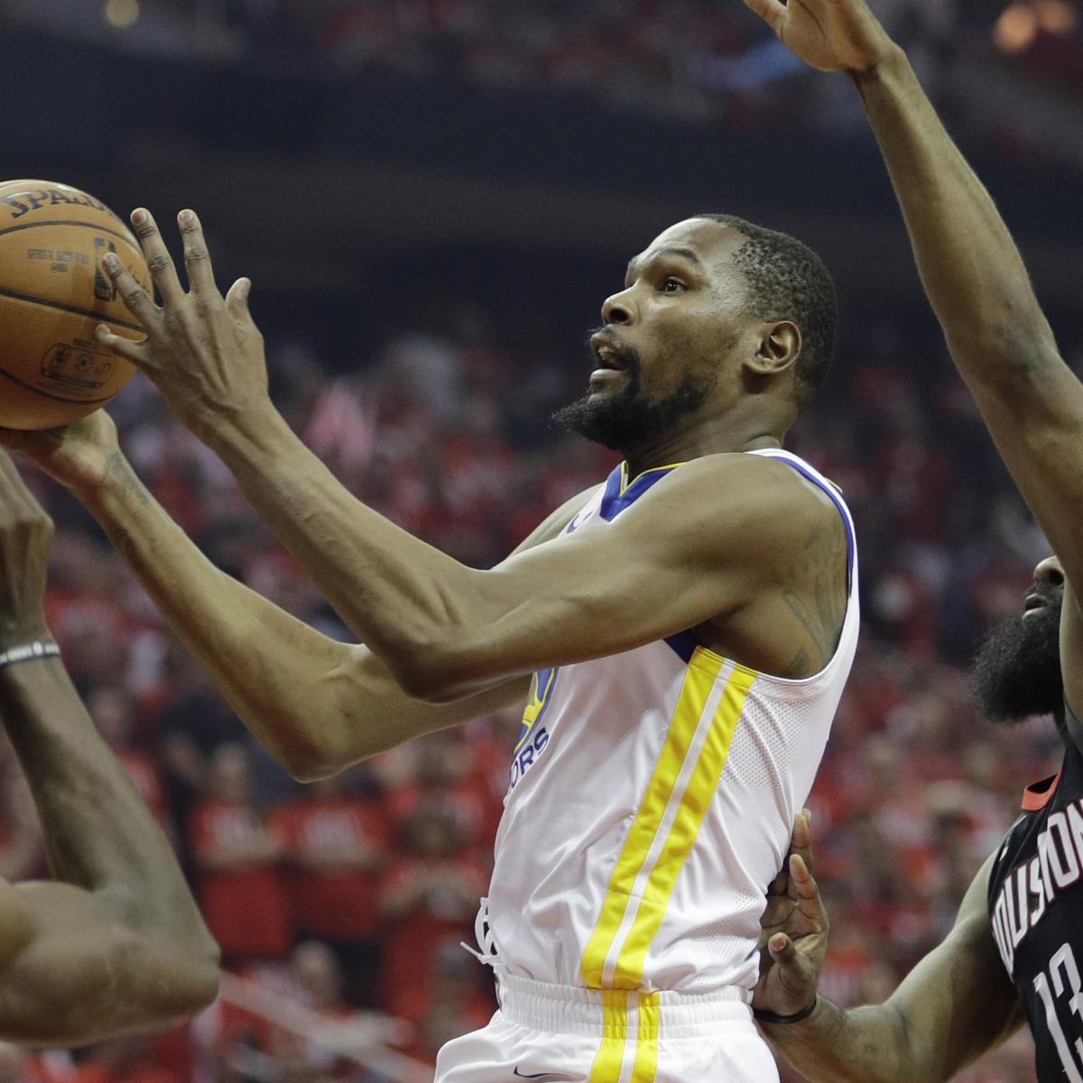 Kevin Durant After Rockets Win: Warriors Haven't Peaked Yet, 'Could Be Better'