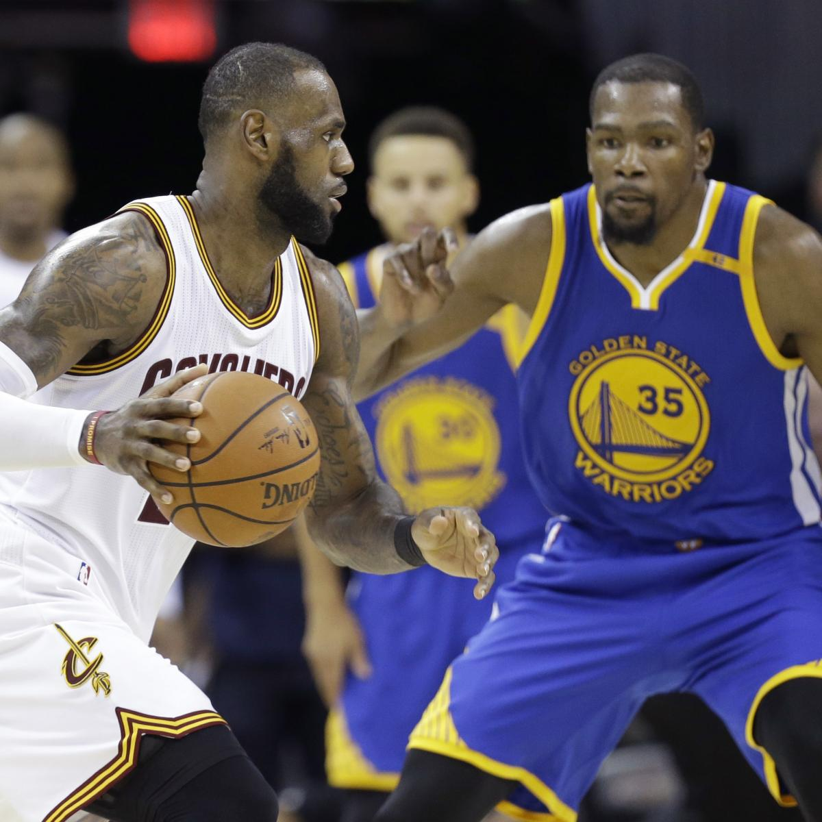 NBA Finals 2018: Warriors vs. Cavs Game 1 Vegas Odds, Prop Bets and Predictions