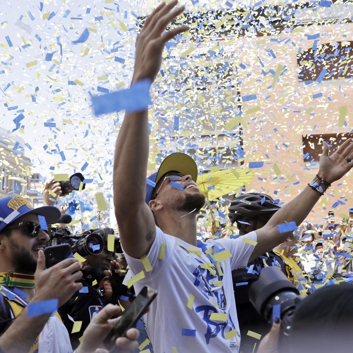 Warriors Parade 2018: Photos, Videos, GIFs from Best Moments