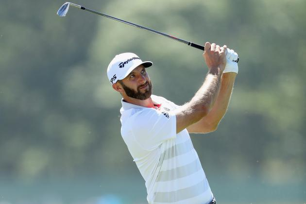 US Open Golf 2018: Dustin Johnson Leads, Field Struggles in Nightmarish Thursday