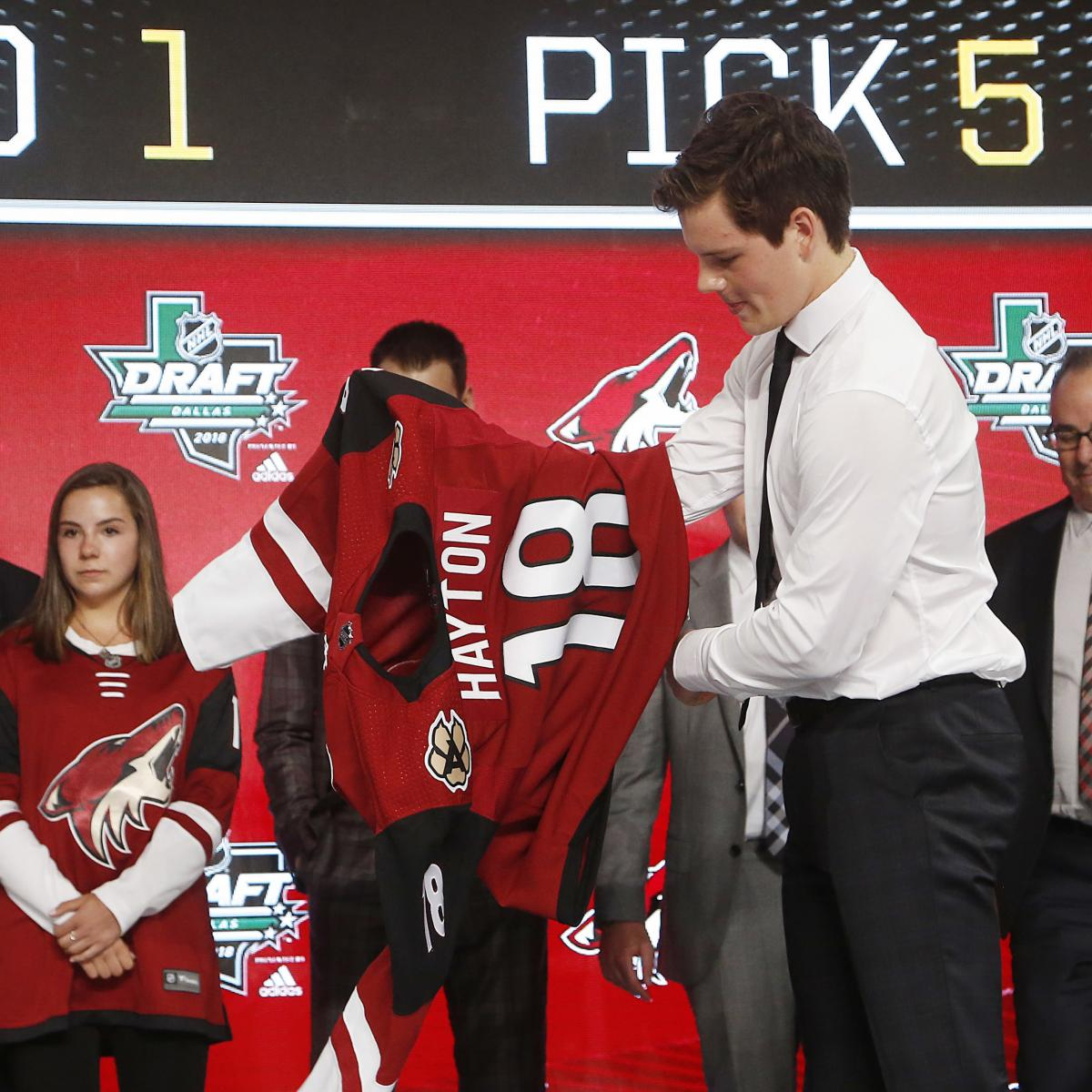 NHL Draft 2018 Order: Day 2 Selection List, TV Schedule and Day 1 Results
