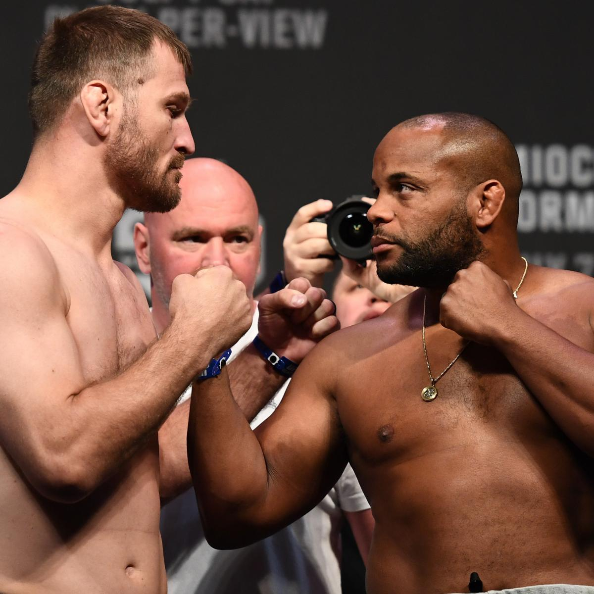 UFC 226: Miocic vs. Cormier Fight Card, TV Info, Predictions and More