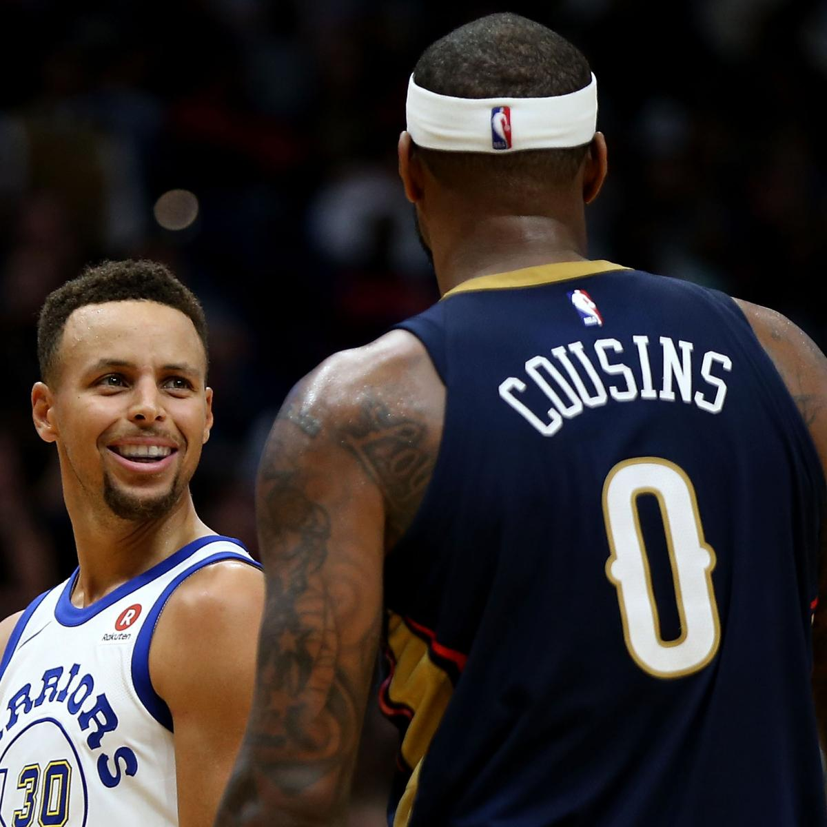 Stephen Curry on Wanting to Play with DeMarcus Cousins: 'Obviously, Hell Yeah'