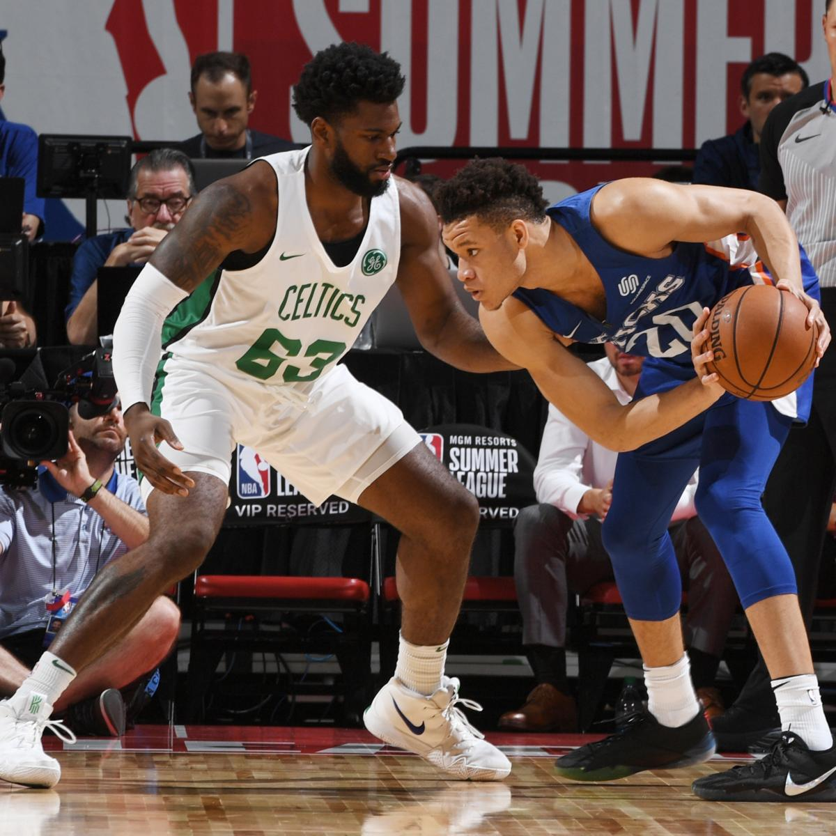 NBA Summer League: Kevin Knox Lackluster in Loss vs. Celtics