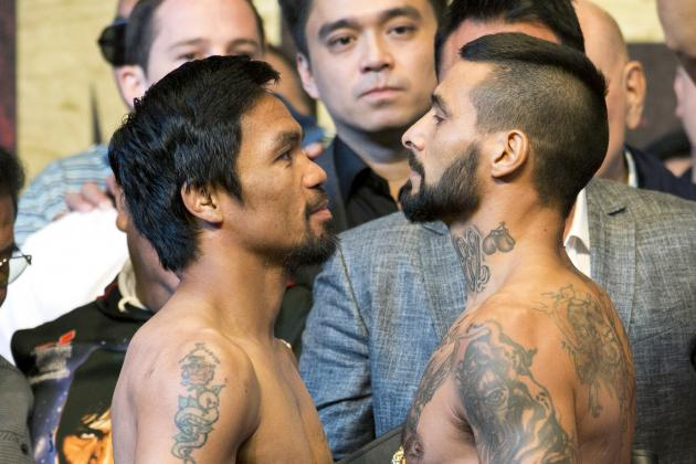 Pacquiao vs. Matthysse Weigh-In: Results, Twitter Reaction for Pre-Fight Event