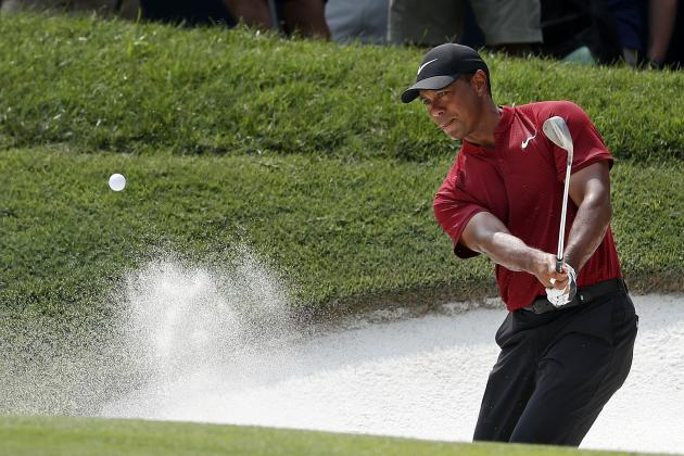 Tiger Woods Keeps Up Strong Play on Front 9 of Final Round at PGA Championship