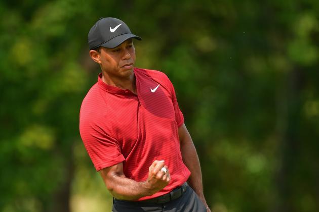 Tiger Woods' Sunday Rally Falls Short, Shoots 14 Under at PGA Championship