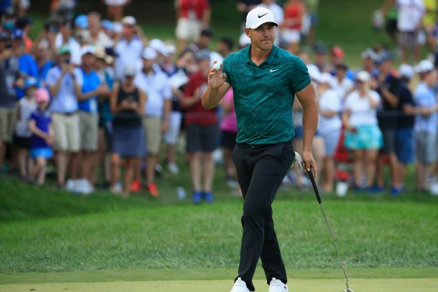 Brooks Koepka Holds Off Tiger Woods, Sets Record in PGA Championship 2018 Win
