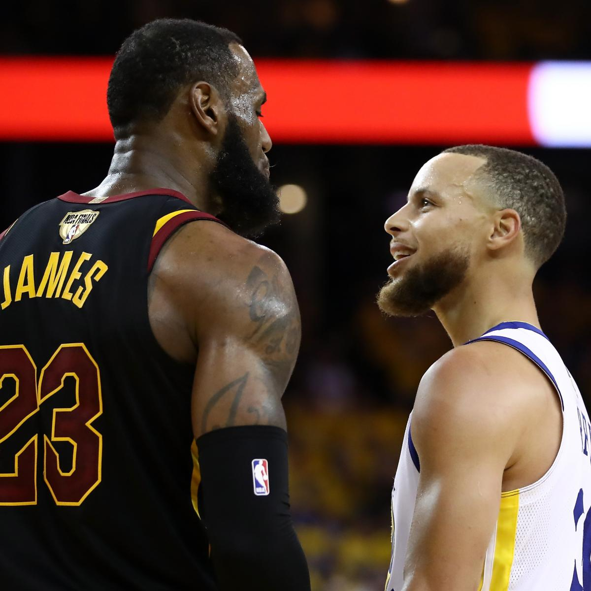 Stephen Curry Dishes on Trash Talk with LeBron James During Game 1 of NBA Finals