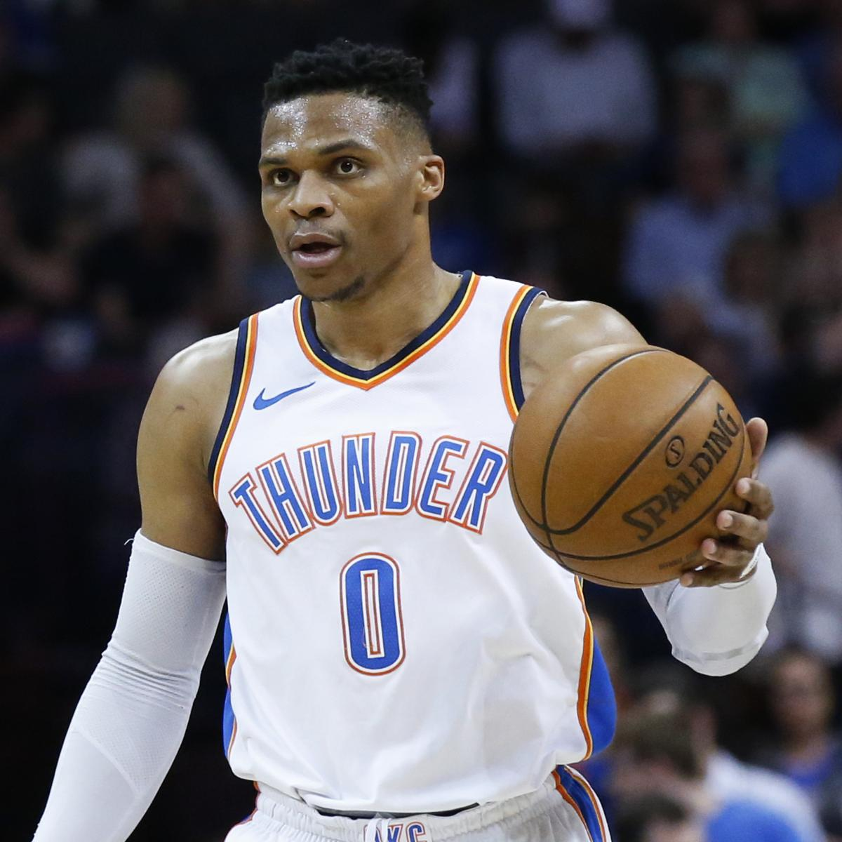 Russell Westbrook Out with Knee Injury for Thunder vs. Warriors Season Opener