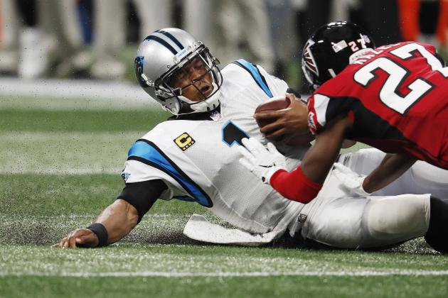 Cam Newton Takes Vicious Late Hit to Head, Damontae Kazee Ejected; Brawl Ensues