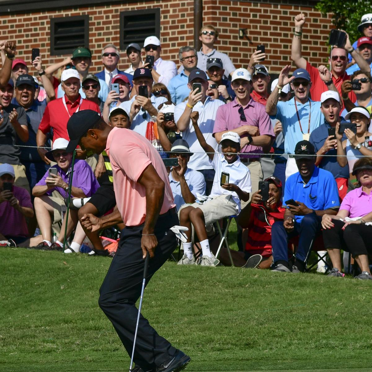 Tour Championship 2018: Tiger Woods, Rickie Fowler Lead After Round 1