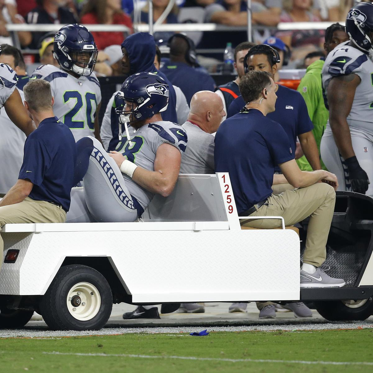 Will Dissly Carted Off with Knee Injury vs. Cardinals, Will Not Return