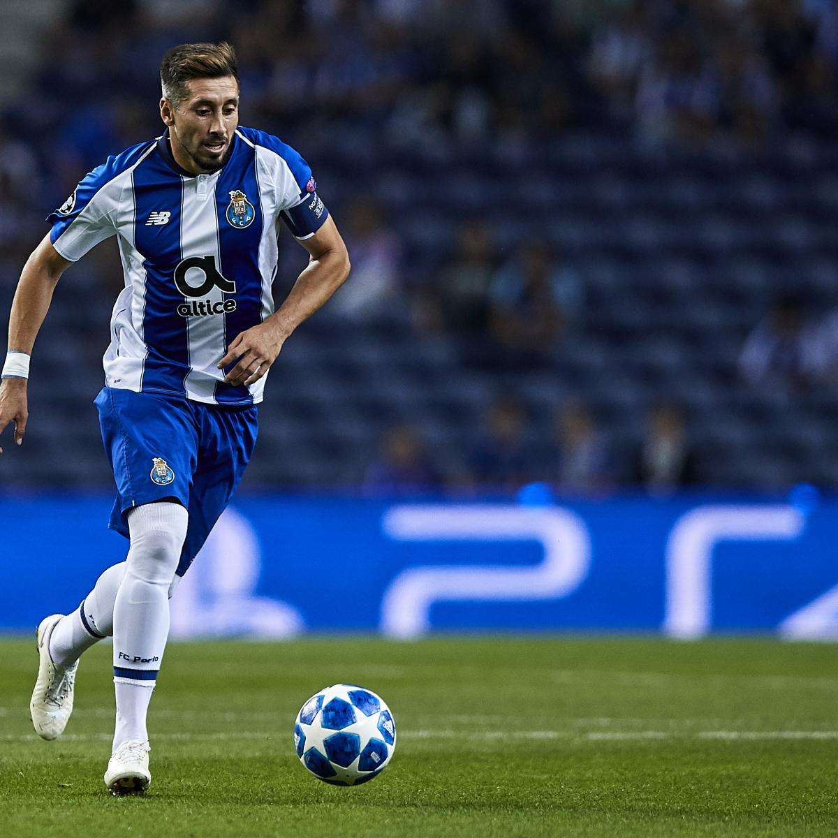 Report: Arsenal Watch Porto's Hector Herrera Amid Transfer Rumours