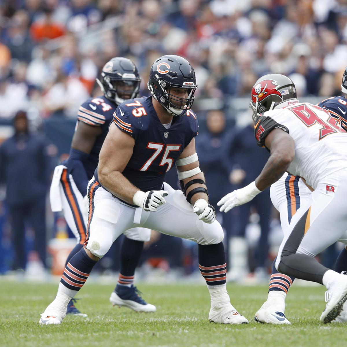Report: Kyle Long to Miss 6-8 Weeks After Suffering Foot Injury vs. Jets