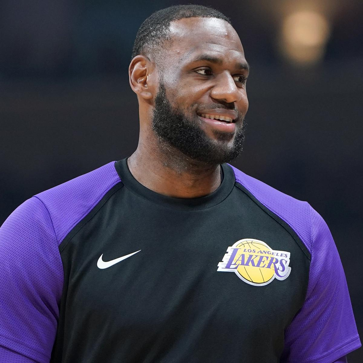 NBA's No. 1 Hugger LeBron James Is in His Feelings Before LA Lakers Debut