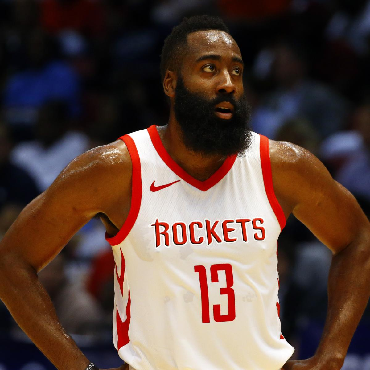 James Harden out at Least 2 Games with Hamstring Injury