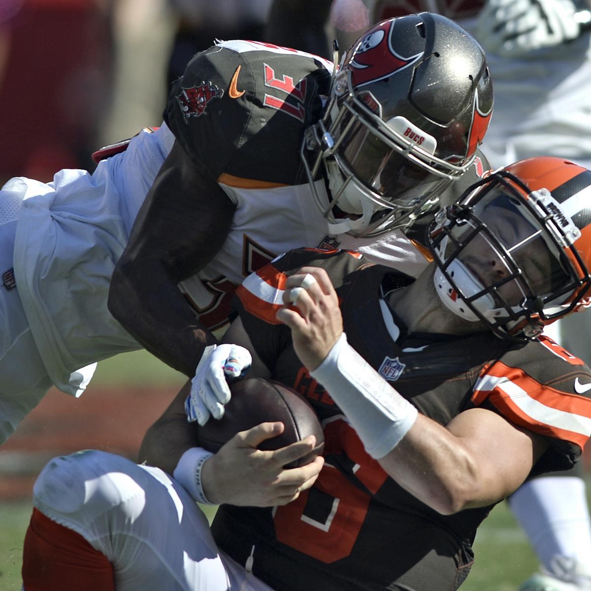 Jordan Whitehead Fined $26,739 for Helmet-to-Helmet Hit on Baker Mayfield