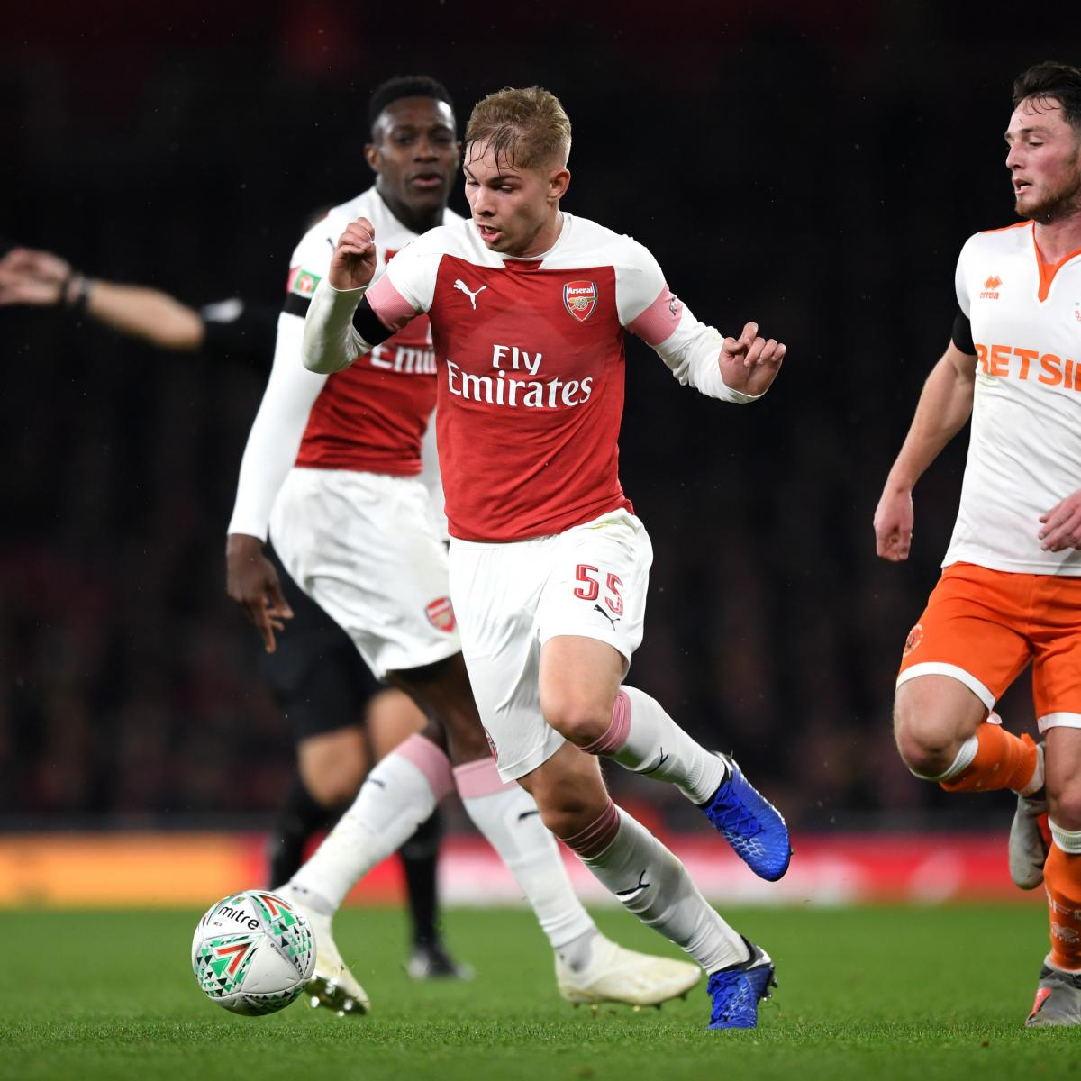 Emile Smith Rowe Scores in Arsenal's 2-1 League Cup Win over Blackpool