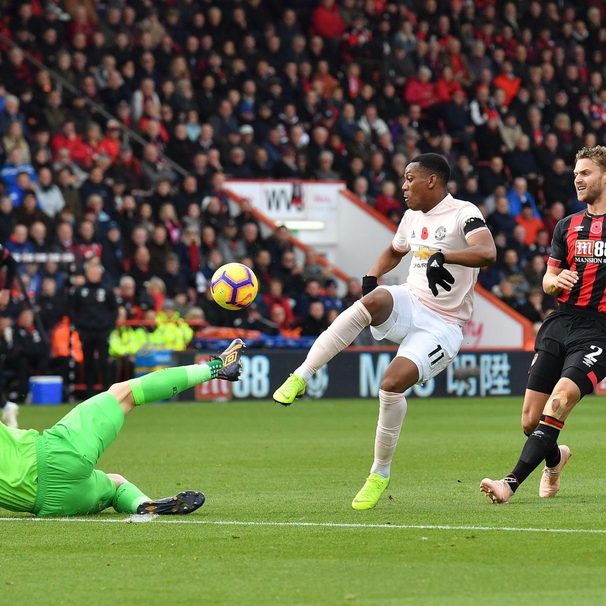 EPL Table: Saturday's Week 11 Results, Scores and 2018 Premier League Standings