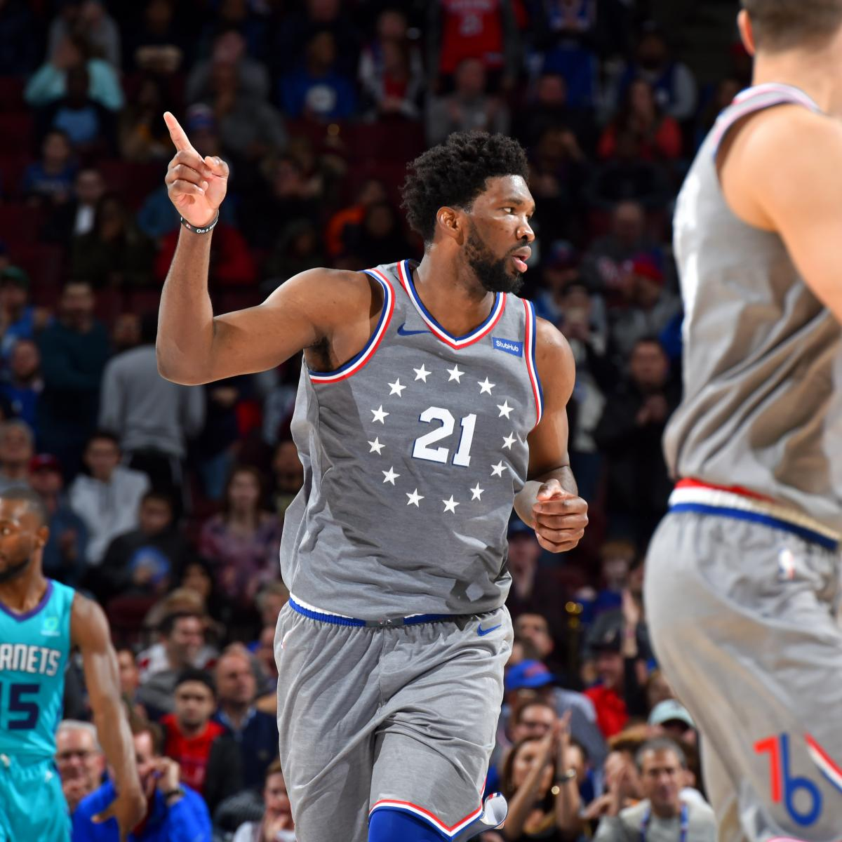 Joel Embiid Drops 42 Points, Snags 18 Rebounds in 76ers' OT Win vs. Hornets