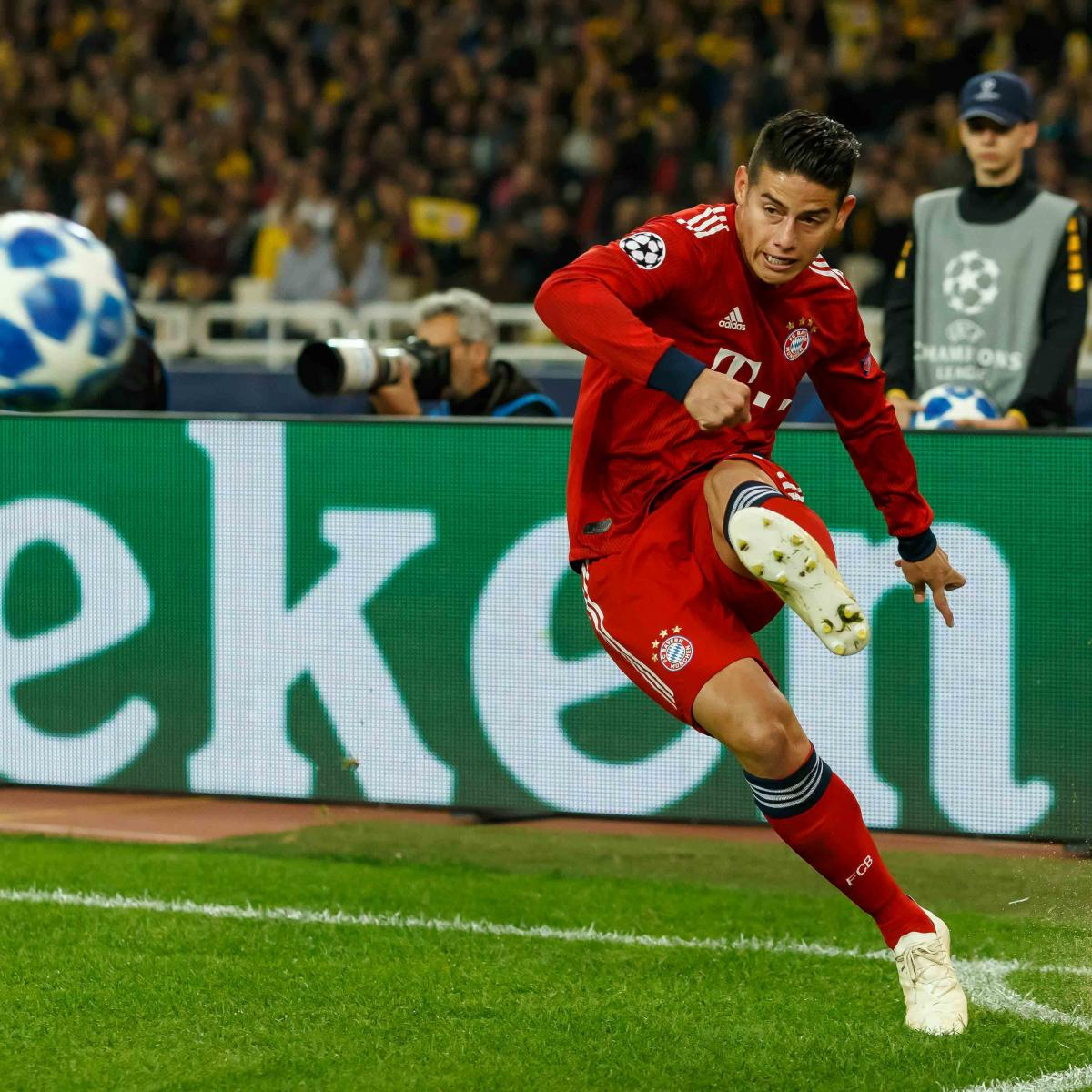 Juventus Reportedly Eye James Rodriguez Transfer Amid Bayern Exit Rumours