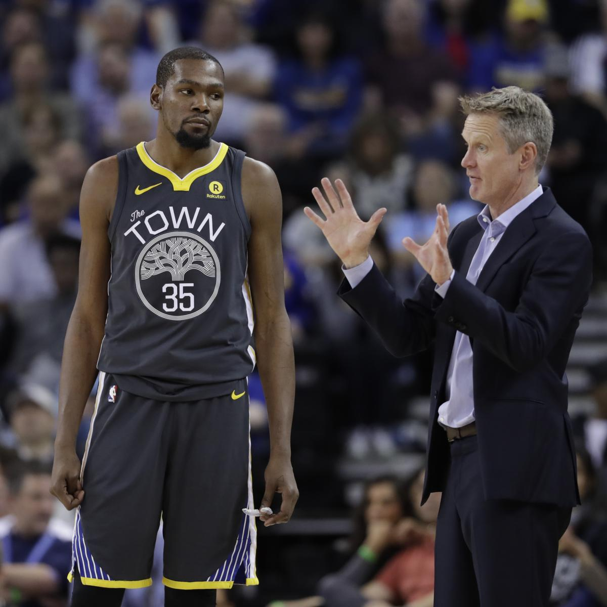 Steve Kerr Says Warriors Aren't Bothered by Kevin Durant's Free Agency