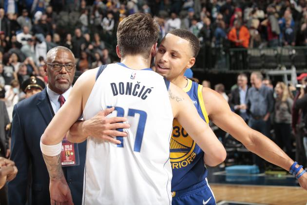 Stephen Curry Calls Luka Doncic 'Unbelievable,' More Warriors Praise Mavs Rookie