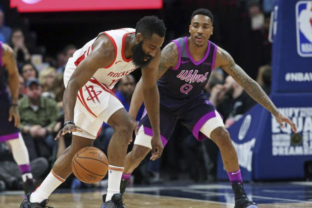 Karl-Anthony Towns Dominant as Timberwolves Beat James Harden, Rockets