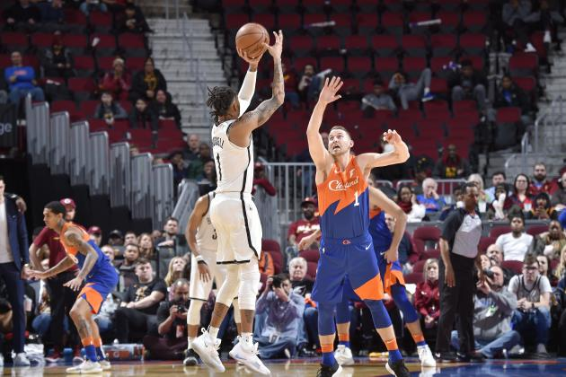 D'Angelo Russell Drops 36 as Nets Beat Collin Sexton, Cavaliers in 3OT